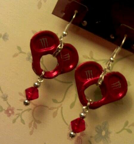 Happy valentines monster dub ballers blend heart can tab earrings