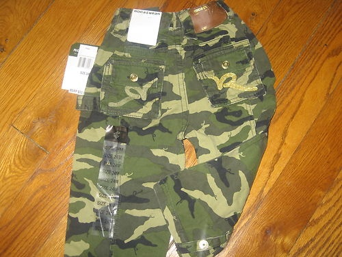 Rocawear Baby Boys 24M Months Urban Swen Logo Camo Cargo Pants New $32 | eBay