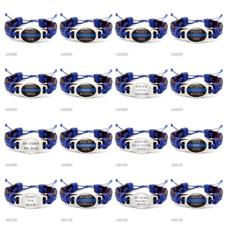 (10 PCS/lot) Police Lives Matter Thin Blue Line Adjustable Leather Cuff Bracelet for Men Women Punk Casual Wristband Jewelry