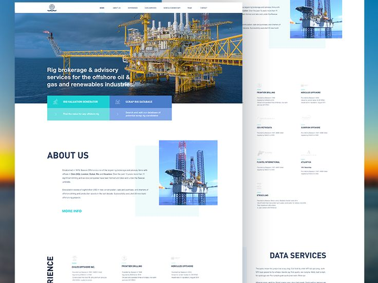 Offshore company website by Lukáš Oslzla