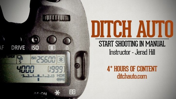 FREE COURSE: Learn how to use Manual mode on your #DSLR #Camera. Ditch Auto - Start Shooting in Manual