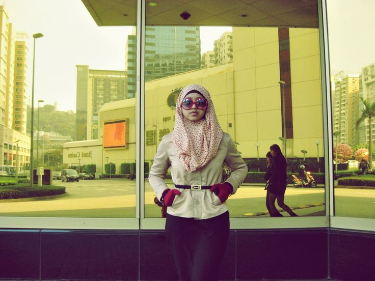 #hijab fashion #muslim #glasses #red #fashion #simple but #beautiful #afternoon #nice #classy  #love #Sands #Hotel #Casino #macau