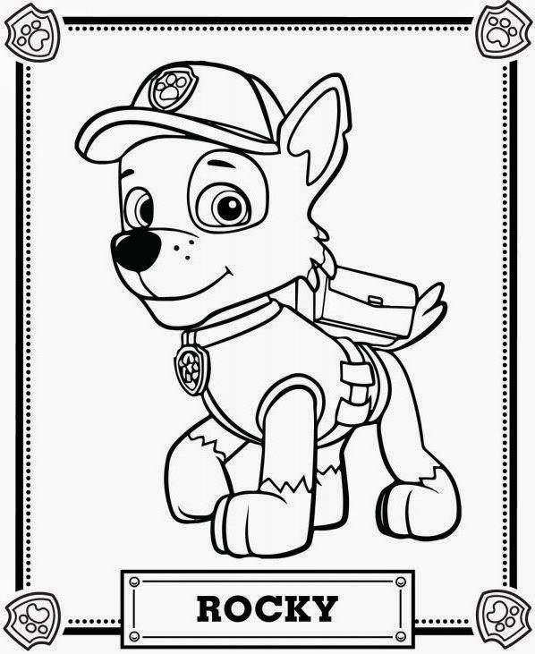 BAUZINHO DA WEB - BAÚ DA WEB : Desenhos da Patrulha canina para colorir, pintar, imprimir! Paw Patrol