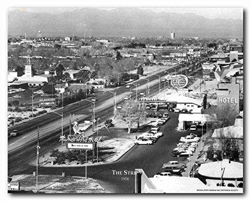 Las vegas strip 1958 vintage city wall décor art print po https