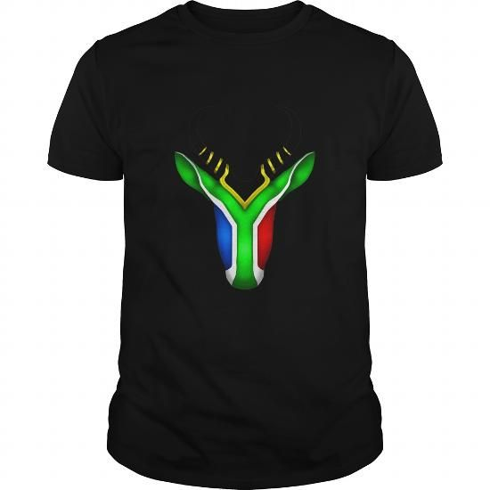 Awesome Tee South African Flag Springbok SHIRT T-Shirt