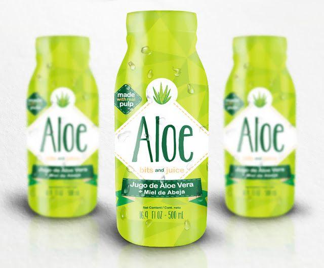 Aloe (jus d'aloe vera) | Design : Litho Lab Creativos, Lima, Pérou (mars 2015)
