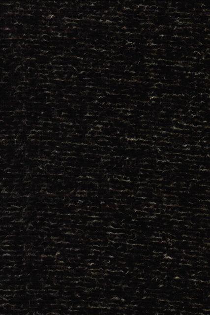 Filtet uld/strik, meleret/stribet mørkebrun