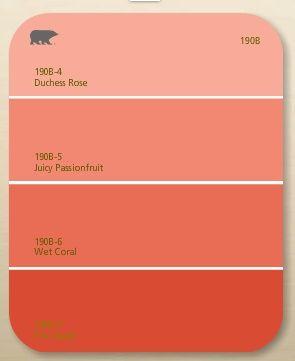 Coral paint colors 9d2a80d8d4613eee0fccf1a7a99e2a96.jpg 295×361 pixels