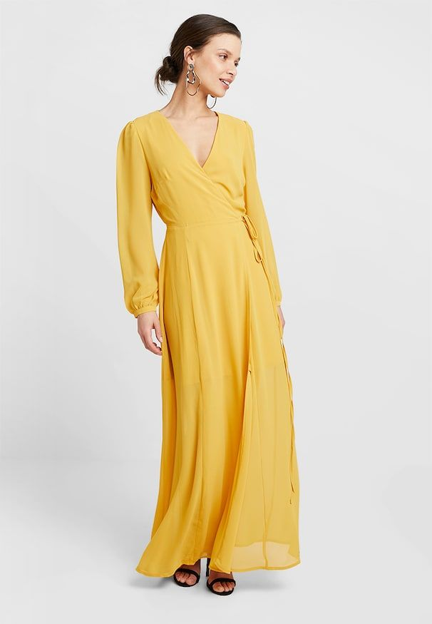 dae37c2a WRAP MIDI DRESS - Maxikjole - yellow i 2019   bryllup   Bryllup, Dresser og  Wraps