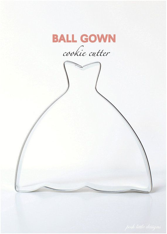 Ball gown dress cookie cutter ball dresses the o 39 jays for Wedding dress cookie cutters