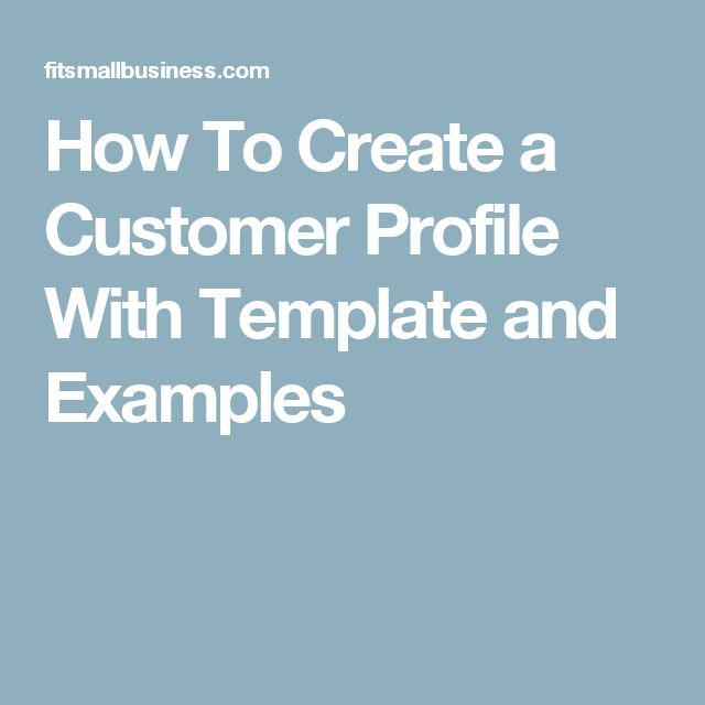 Best 25+ Customer Profile Example Ideas On Pinterest | Grey Shirt