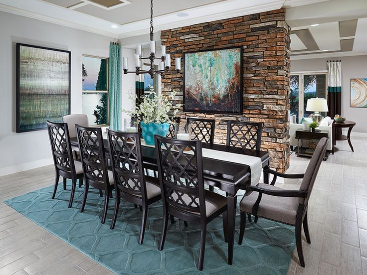 This Stone Wall Accent Adds A Touch Of Flair To Dining Room At Watermark In Orlando Florida