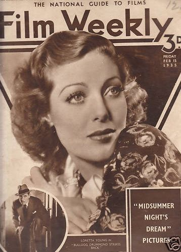 Loretta Young - Film Weekly Magazine [United Kingdom] (15 February 1935)
