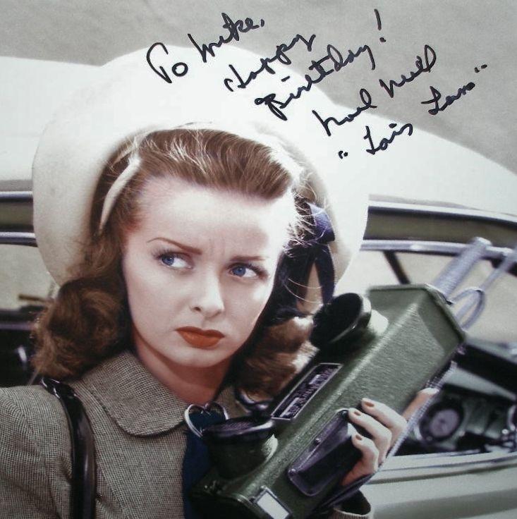 NOEL NEILL Original LOIS LANE Signed Photo FRAMED Planet SUPERMAN Autograph RARE