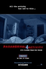 #1 at the box office this past weekend with $30,200,000 was Paranormal Activity 4