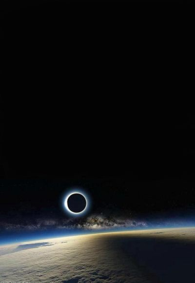 Eclipse from ahight