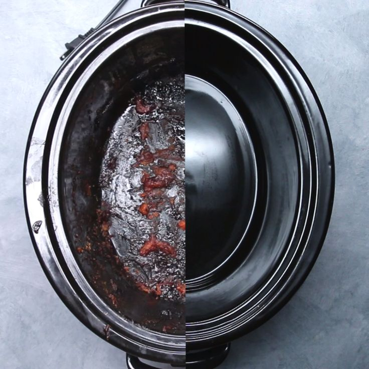 How To Clean A Slow Cooker // #slowcooker #cleaning #diy #cleaner #cooking #kitchen #nifty