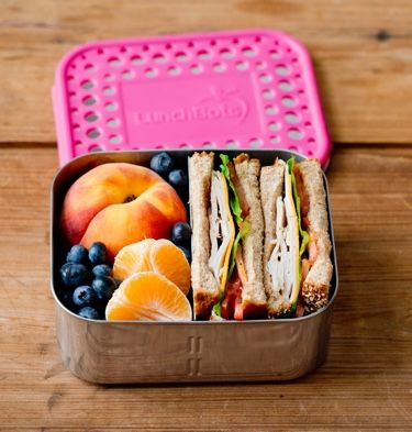 Stainless steel, divided lunch container with a removable divider so you can use as a one section container or two.