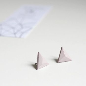 Delicate light pink concrete earrings