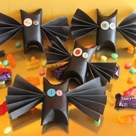 These Halloween bat treat boxes are a fun way to give and receive candy!