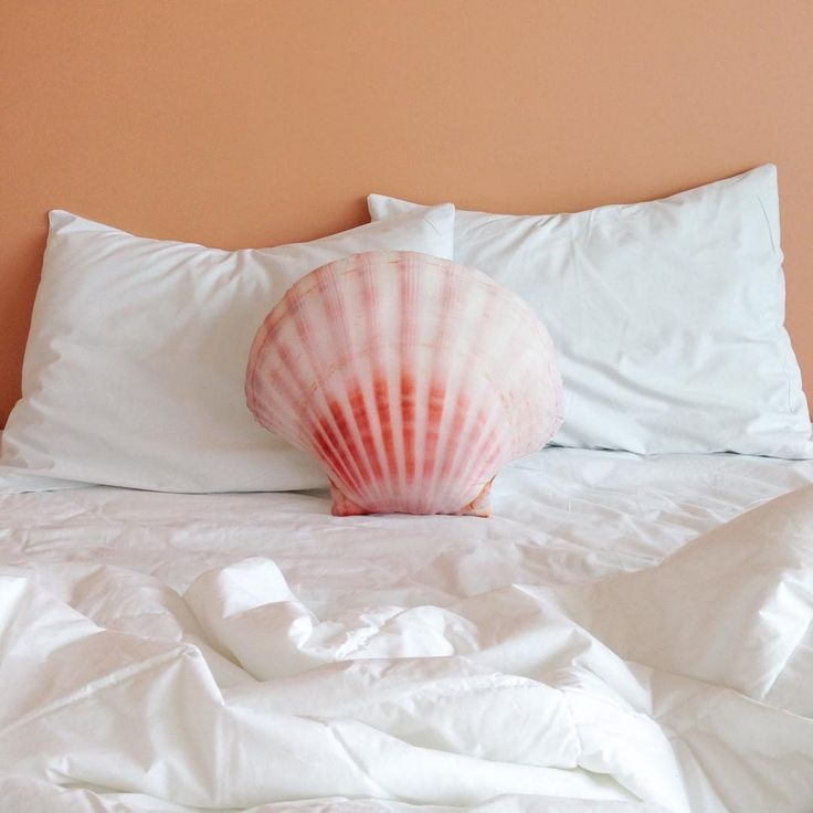 Seashell Pillow Mermaid Accent Home Decor