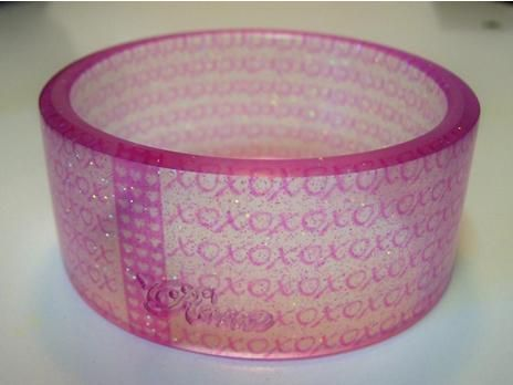 resin bangle with transparencies