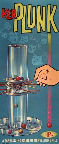 Ker Plunk - I had this game. My daughter has the newer version. Not as sturdy.