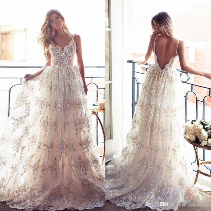 Greek Style Boho Bohemian Wedding Dresses Spaghetti Straps: 1000+ Ideas About Grecian Wedding Dresses On Pinterest