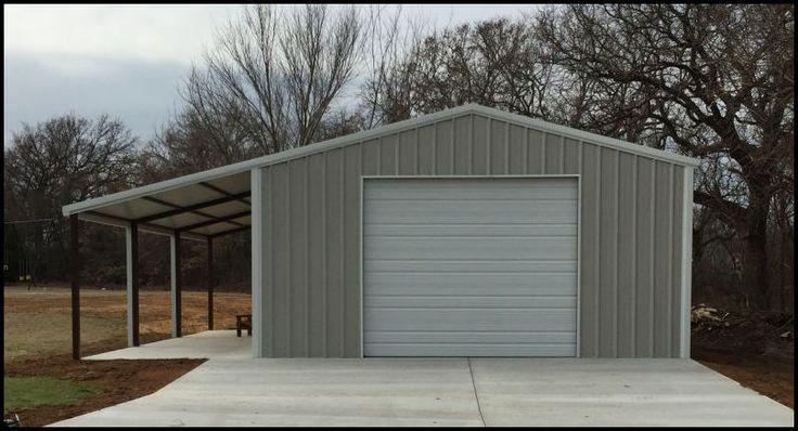 Garage with Awning Metal garage buildings, Metal shop