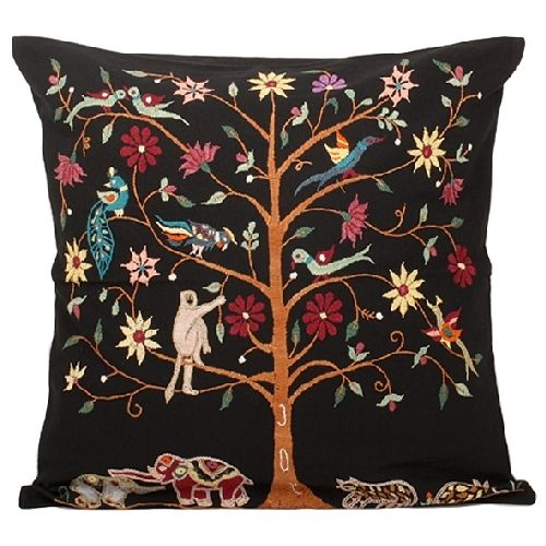 Black Tree Of Life Cushion Cover - Cushions - Product - Trade Aid. White is good too!
