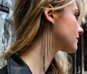 Tribal Chain Ear Cuff