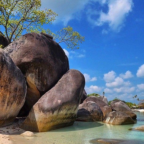 Big rocks at Tanjung Tinggi Beach, Belitung, Bangka Belitung Province, Indonesia