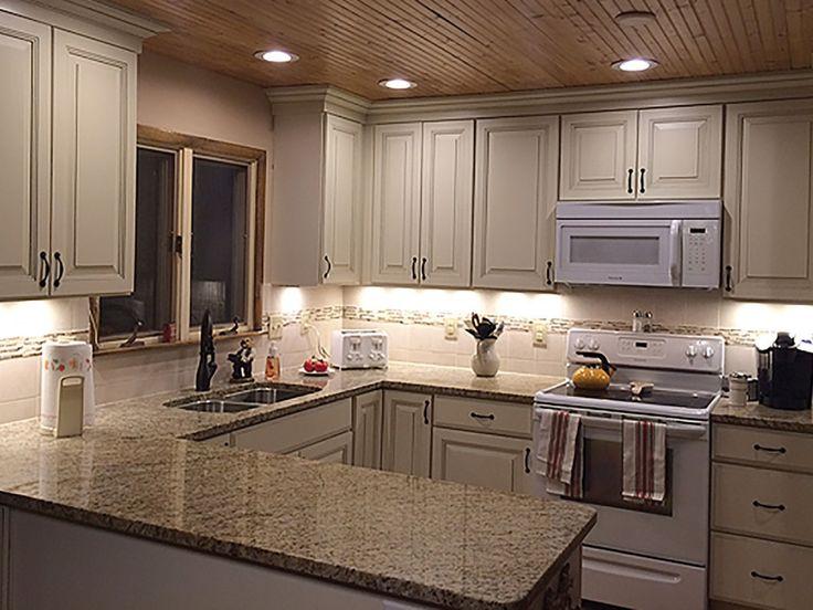 Bloomington Minnesota kitchen renovation features CliqStudios Carlton Painted Linen Bisque Glaze cabinets