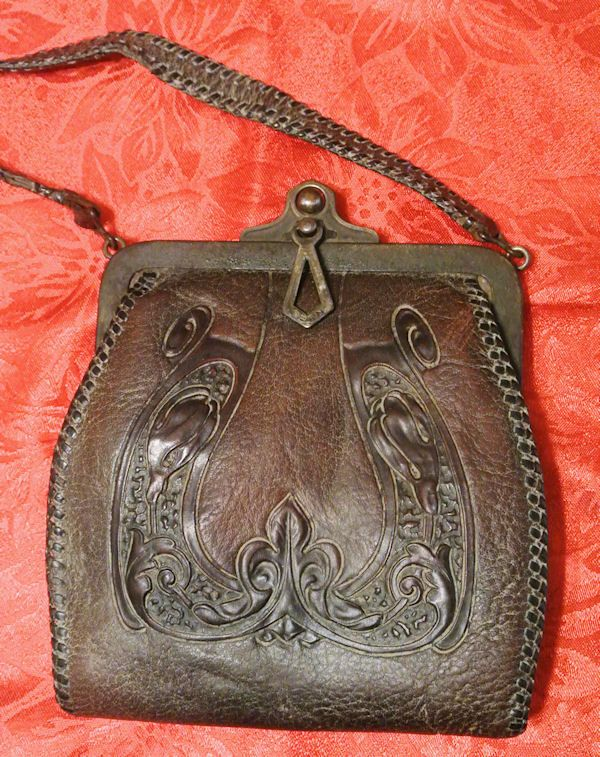 Nocona Bag Nocona Purse Arts and Crafts Hand by PattysPorcelainEtc