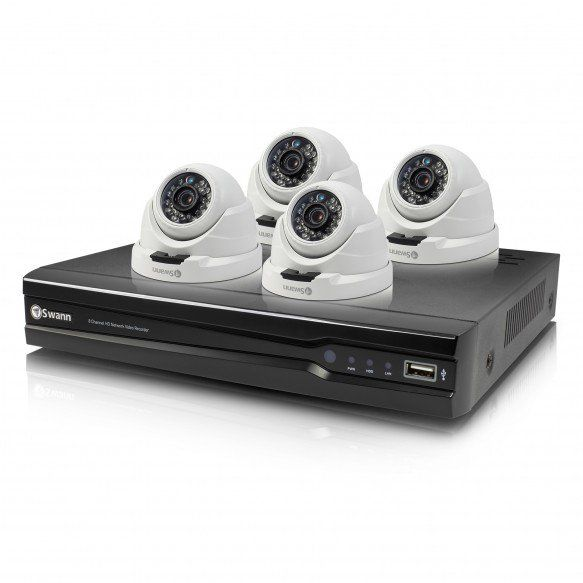 NVR8-7400 8 Channel 4MP Network Video Recorder & 4 x NHD-819 Dome 4MP Cameras