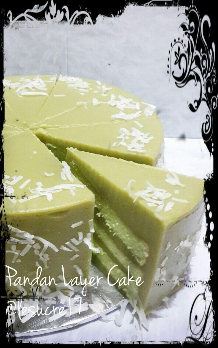 Pandan Layer Cake Ig : @lesucre17