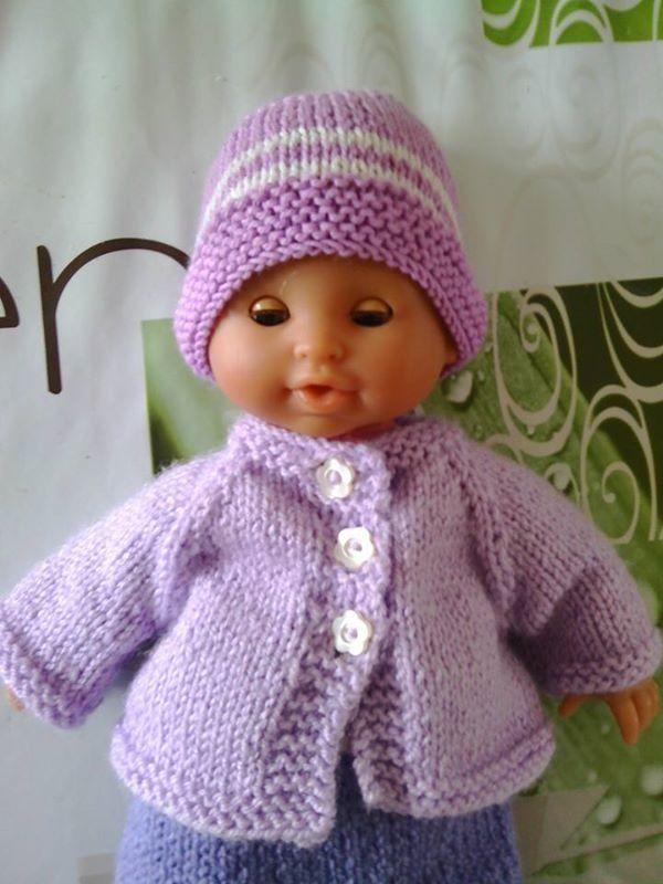 gilet violet tricoté pour ponpon de 32cm : Jeux, jouets par angelinalary