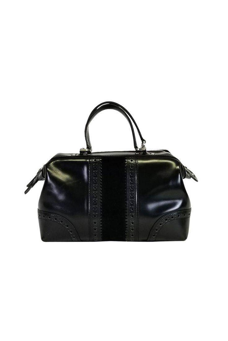 Cole Haan- Black Leather Satchel | Current Boutique