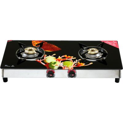 EVEREST EGD-01 GLASS TOP LPG GAS STOVE - 2 BURNERS - DIGITAL PRINTED (ASSORTED DESIGNS) Attractive Digital Printed Designs Glass Top Cover Hard toughened glass is flashed as a thick cover, for safety, beauty & style. It comes with Fire Proof Film. Stainless Steel Drip Tray Rust free drip tray for easy cleaning. Unique toughened glass Spill proof design High thermal efficiency Uniquely designed pan Designer knobs One Year Warranty (No Warranty for Glass)