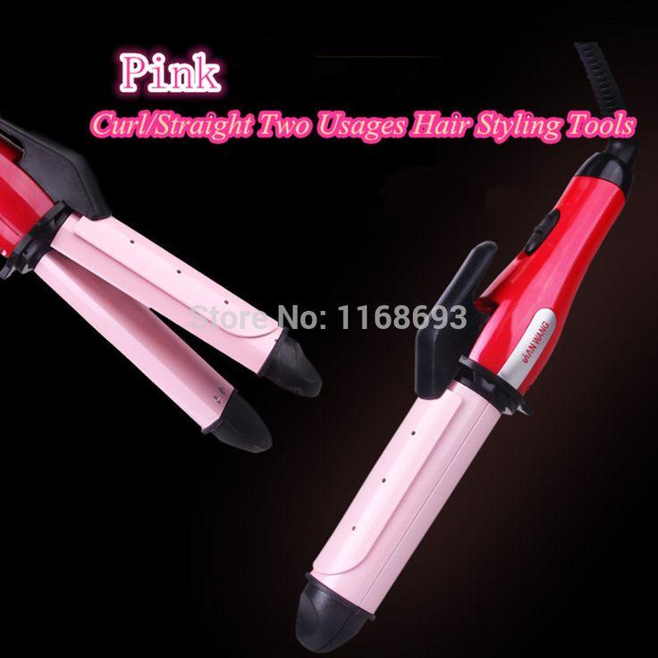 Ferramenta de estilo modelador de cabelo e alisador de cabelo cerâmica onda / reta dois uso Dry / Wet cabelo ferro frete grátis alishoppbrasil
