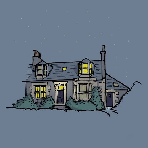 Newport-on-Tay, Scotland: bespoke home illustration