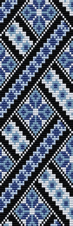 This Miyuki Delica Bead Loom & 4 drop Peyote Patterns are designed for Size 11 Beads. Width: 2.23 / 42 columns Length: 6.92 / 100 rows Colors: 5 1. Technique: Loom 2. Technique: 4-drop even peyote stitch You can also choose other colours according to your taste. Naturally you can shorten this bracelet for your desired length. The pdf file includes: 1. picture of the pattern 2. a large, detailed graph of the pattern 3. a bead legend with the colour numbers and count of the deli...