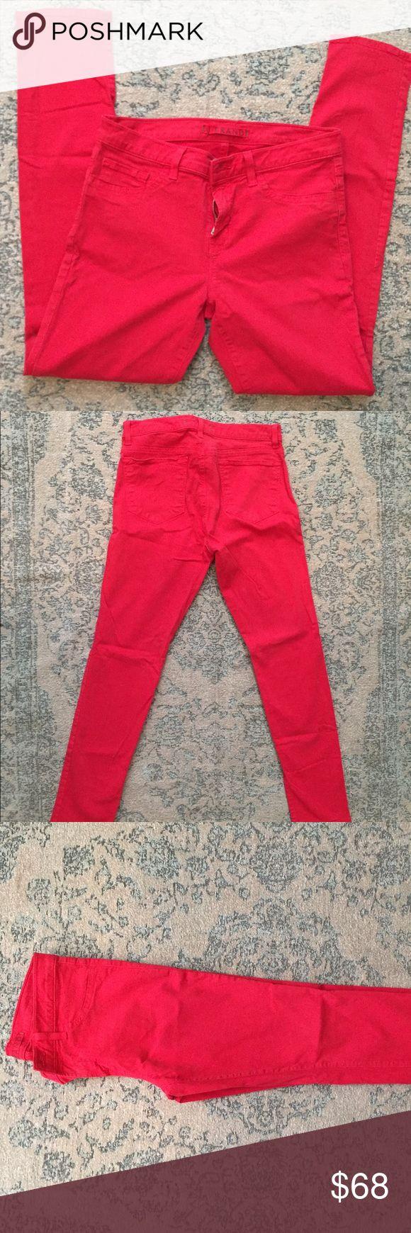 J brand Skinny Jeans J Brand red skinny jeans. Size 29. sty#811k120 cut#7513.   98% cotton 2% spandex. Worn once, needs ironing. J Brand Jeans Skinny