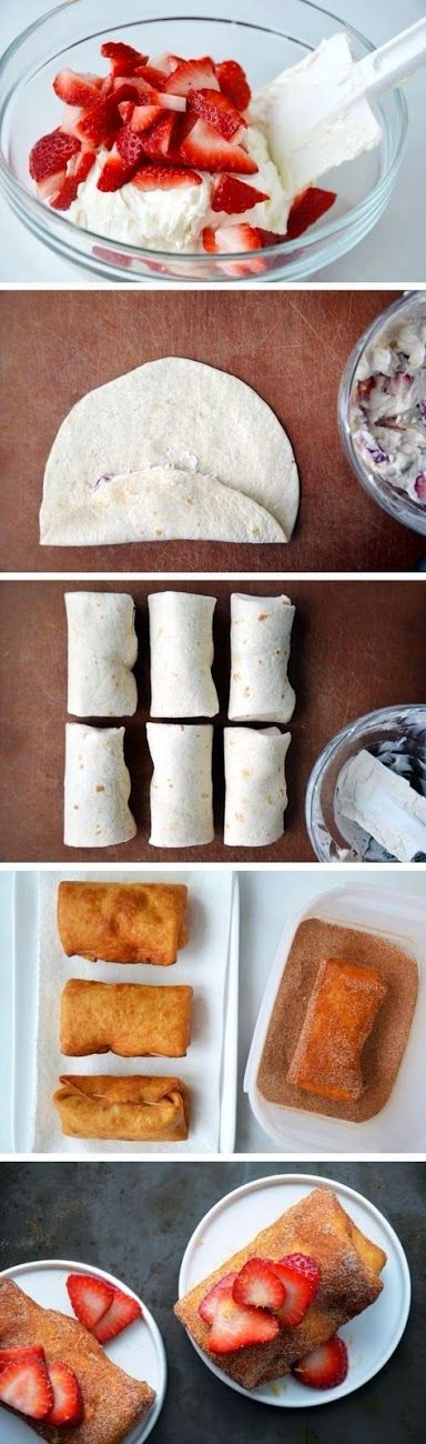 all-food-drink: Strawberry Cheesecake Chimichangas