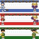 These nameplates fit perfectly with a Sports themed classroom. Sixteen different styles are included featuring basketball, baseball, footabll, socc...