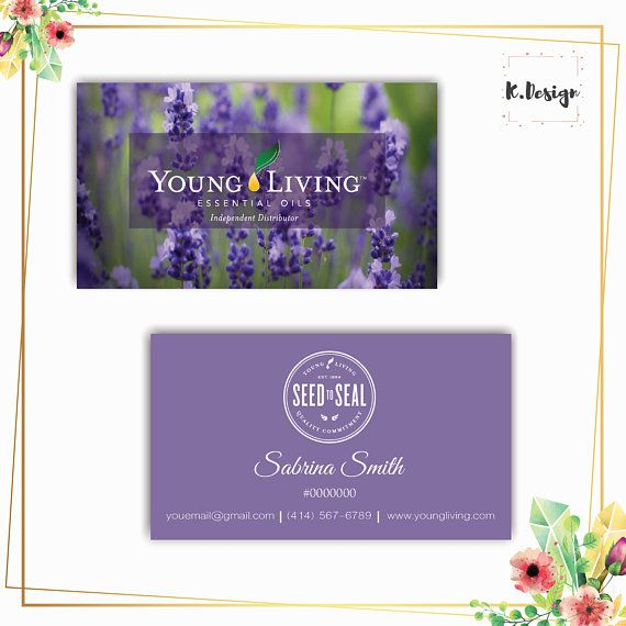 The 477 best young living images on pinterest personalized yl business card printable essential oils business cards lavender business cards yl05 colourmoves
