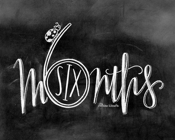 Baby Monthly Chalkboard New Mom Gift Baby Monthly por TheWhiteLime