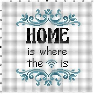 Home is where the wifi is - Cross Stitch Pattern - Instant Download by SnarkyArtCompany on Etsy