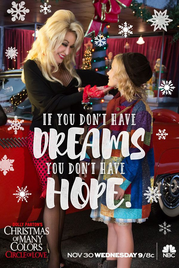 Experience the magic of Dolly Parton's Christmas of Many Colors: #CircleOfLove Wednesday, November 30 at 9/8c on NBC.