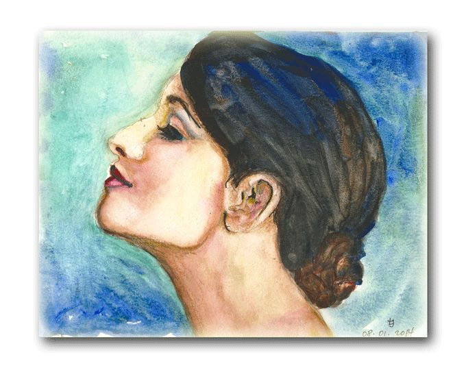 Watercolor , original by Joanna Lazuchiewicz 2014